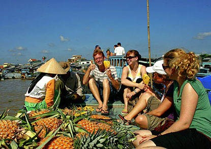 Boat trip to floating markets of the Delta Mekong